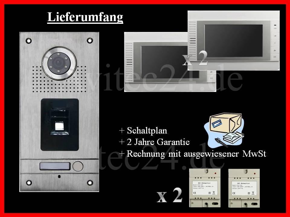 FINGERPRINT VIDEO TÜRSPRECHANLAGE VT56 + 2x VT32
