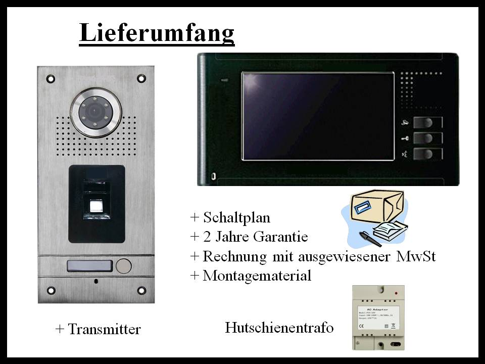 Videosprechanlage mit Fingerprint, Video Gegensprechanlage Fingerprint
