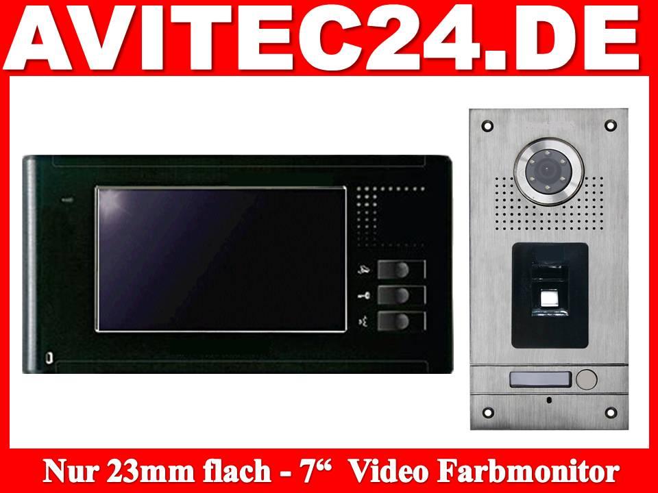 Videosprechanlage mit Fingerprint, Video Gegensprechanlage Fingerprint