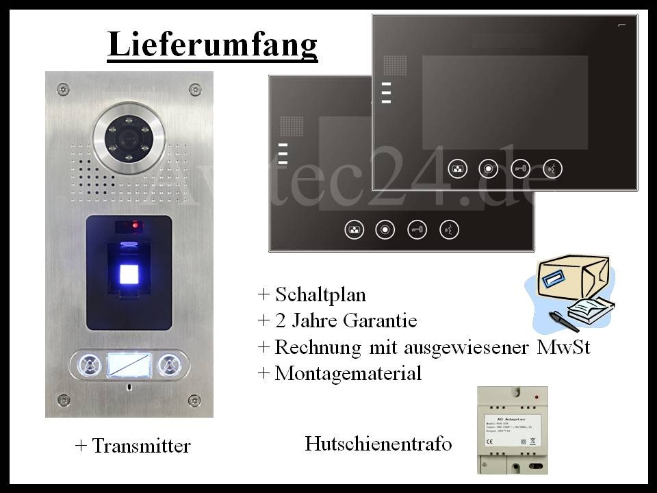Video Türsprechanlage Fingerprint 2-Familienhaus Zweifamilienhaus