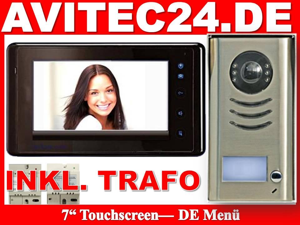 7 Zoll Touchsreen Monitor mit deutschem Menü