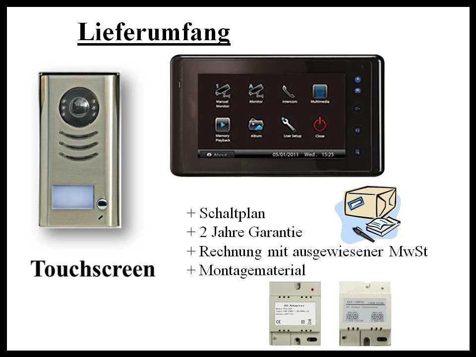 video t rsprechanlage gegensprechanlage bildspeicher 2 draht. Black Bedroom Furniture Sets. Home Design Ideas