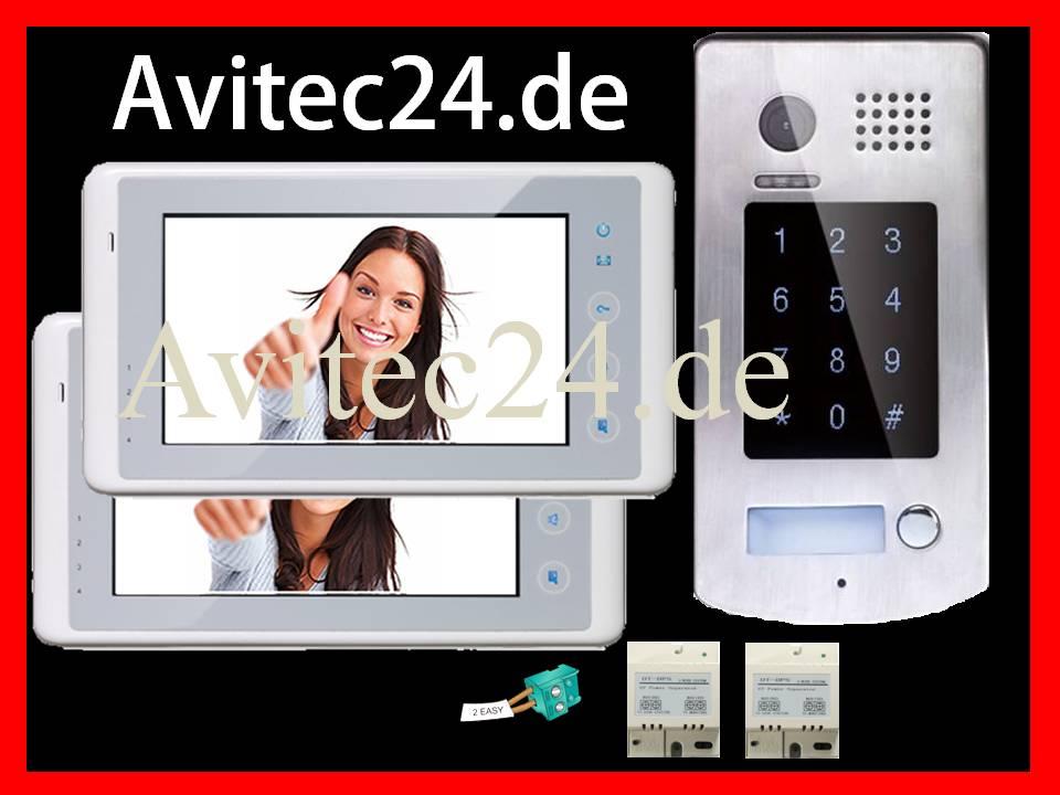 video t rsprechanlage dt596 2x dt27w sd bildspeicher sony ccd zutritt per code. Black Bedroom Furniture Sets. Home Design Ideas