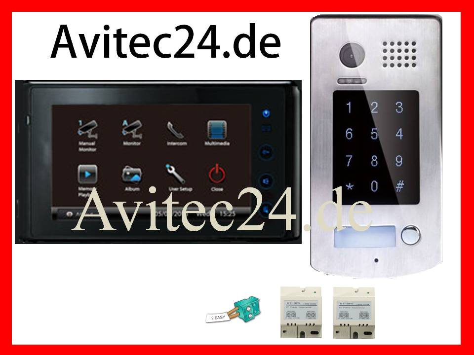 video t rsprechanlage dt596 6927b sony ccd zutritt per code. Black Bedroom Furniture Sets. Home Design Ideas