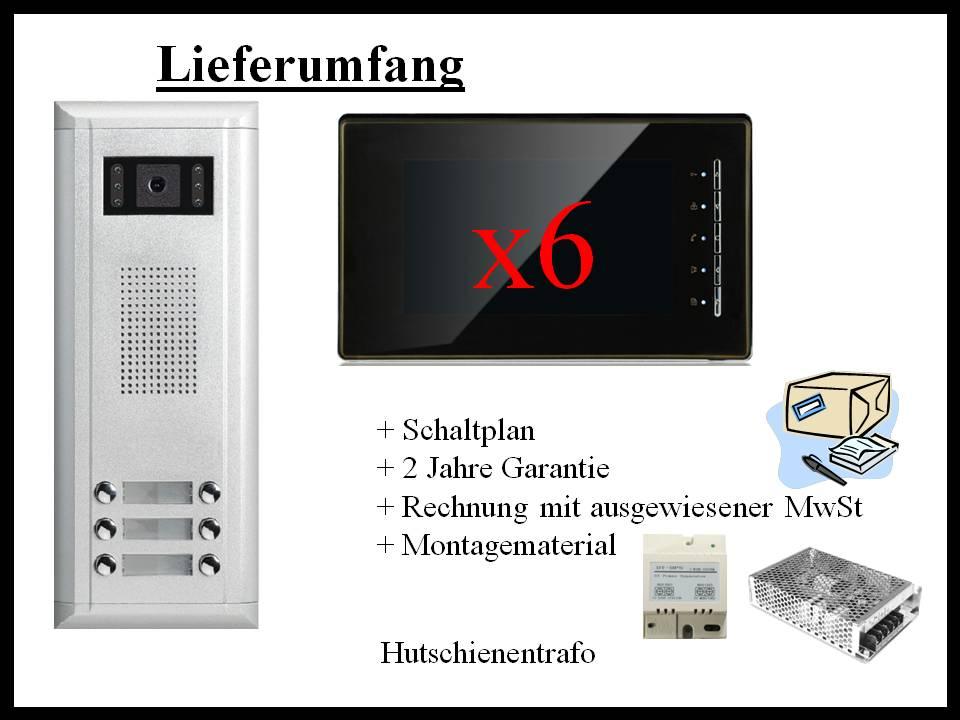 Video-Türsprechanlage-6-Familienhaus-Lieferung