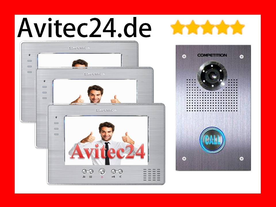video t rsprechanlage t rspion 3 x7 monitore touchscreen. Black Bedroom Furniture Sets. Home Design Ideas