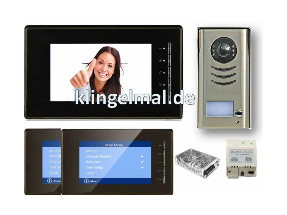 VIDEO KLINGELANLAGE DT 591 + 2x 6910 MIT SONY CCD
