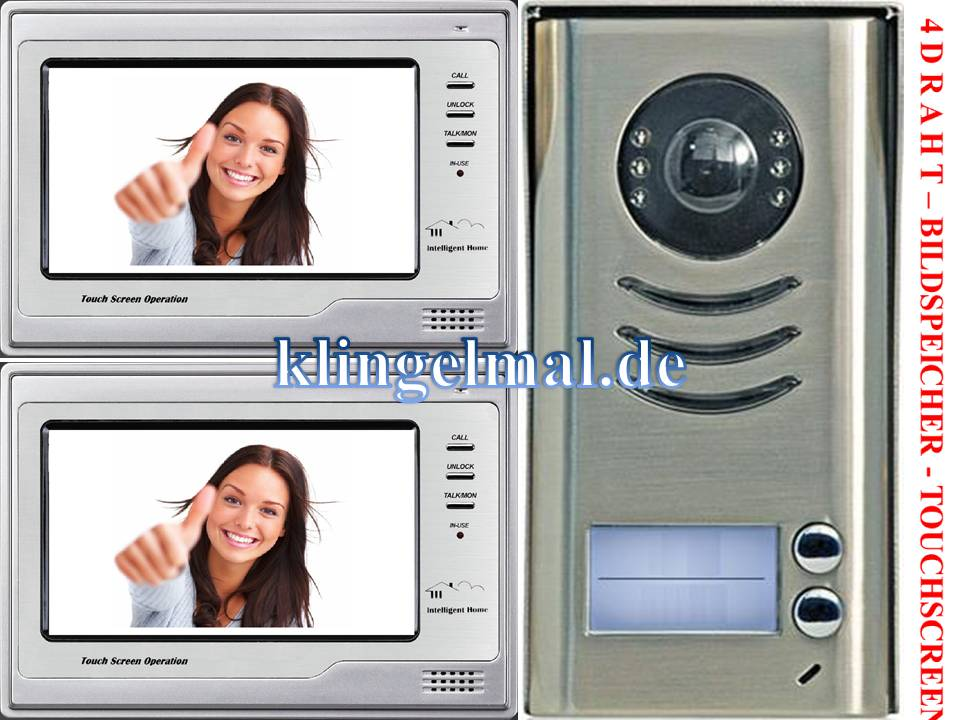 2-FAMILIENHAUS VIDEO TÜRSPRECHANLAGE 592+2x692 SONY CCD