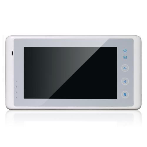 Schicke 2-Draht Innenstation DT27 mit Touchscreen Farbe:weiss
