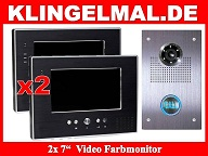 video klingelanlage mit 2x7-Zoll Monitoren