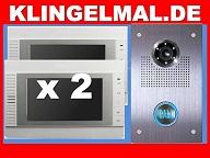 Video Klingelanlage Türklingel mit Kamera und 2x 7-Zoll Monitoren SONY CCD