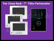 Video Türsprechanlage VT65 + 3xVT81 silber Aussen + Innen Plexiglas Sony Kamera